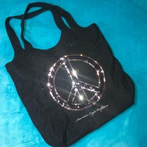 Glitter Peace Tote Bag American Eagle outfitters
